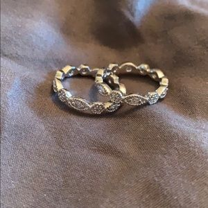Stella & Dot stackable Deco Rings *only two in set